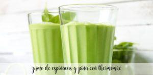zumo de piña y espinacas con thermomix