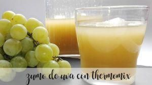 Zumo de uvas con thermomix